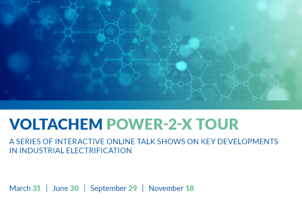 VoltaChem Power-2-X Tour 2021 #3 - Next-generationwaterelectrolysis: Cost-effective hydrogen production enabled by high-tech innovations