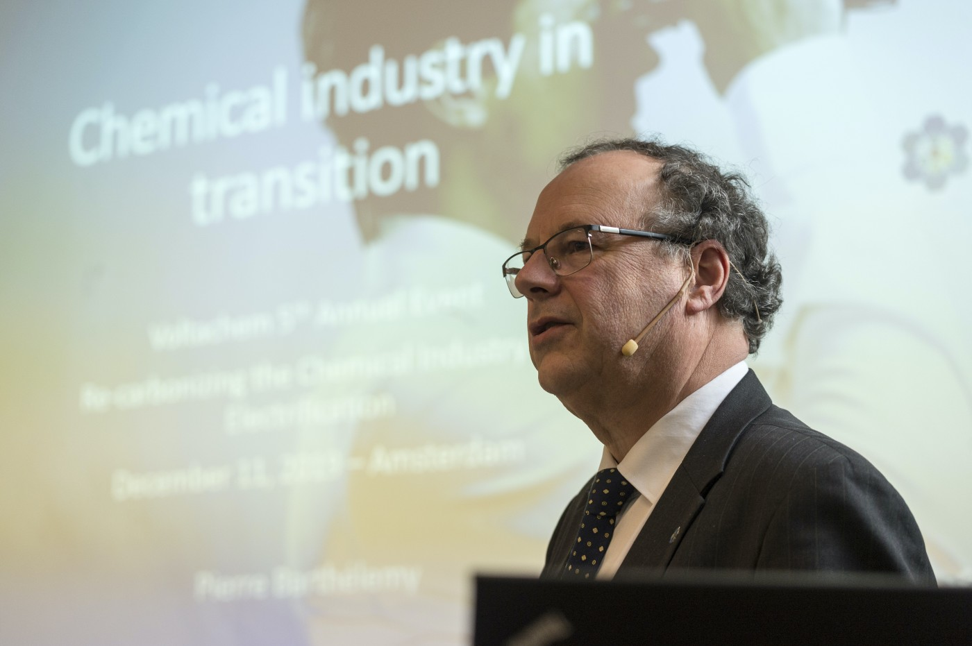 """Pierre Barthélemy: """"The chemical industry has to reinvent its feedstock and energy mix, and in fact reinvent itself."""""""