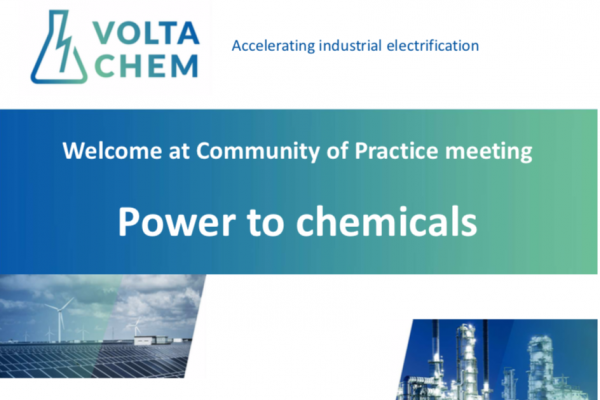 Welcome at Community of Practice meeting Power to chemicals