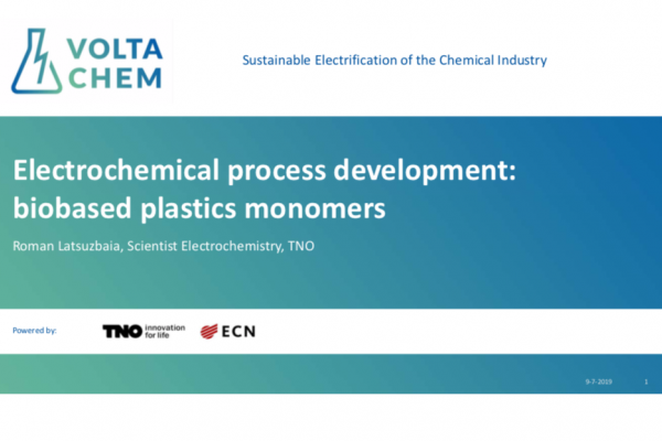 Electrochemical process development: biobased plastics monomers