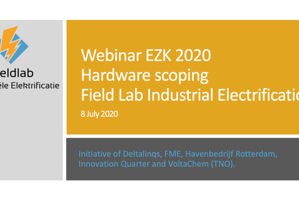 Slide deck Scoping Webinar Field Lab Industrial Electrification